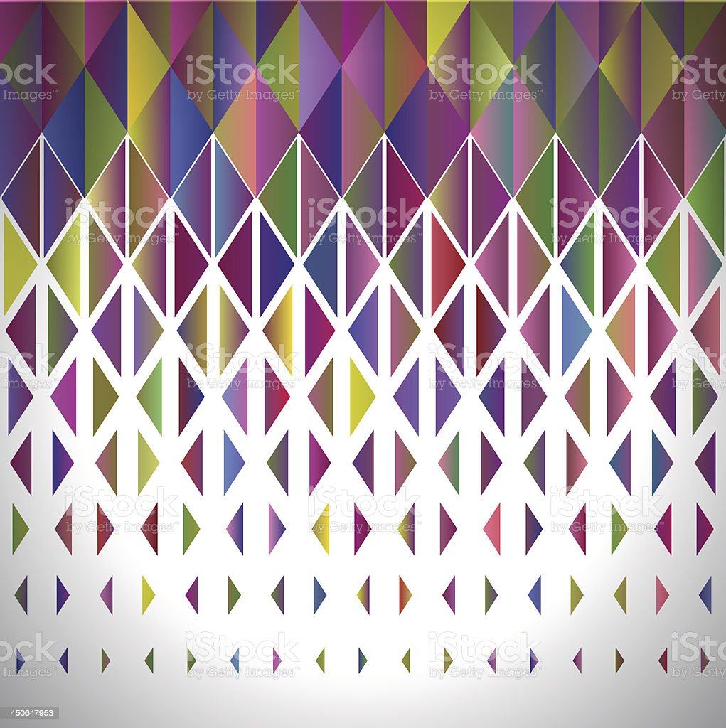 An abstract geometrical background in rainbow colors royalty-free stock vector art