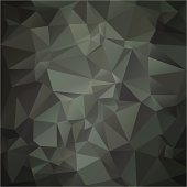 An abstract geometrical design in camp green