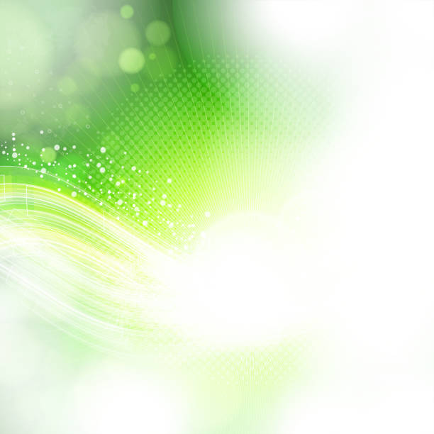 An abstract green fading seamlessly around the image vector art illustration