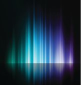 An abstract image of a rising blue and purple light