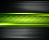 An abstract shiny technology background with green and black