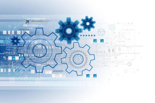 Abstrakte Technologie business Hintergrund Vorlage. – Vektorgrafik
