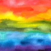 An abstract vector and watercolor background texture in vibrant rainbow colours