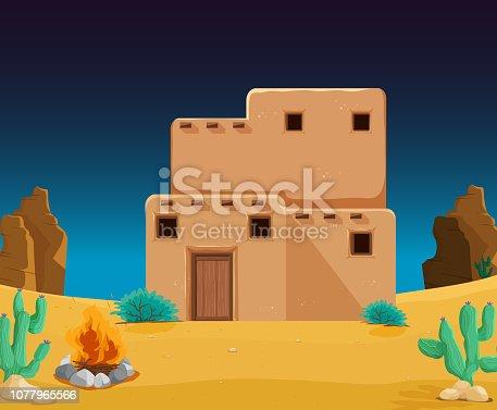 istock An adobe house at desert 1077965566