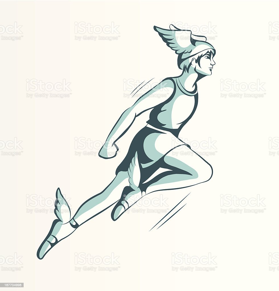 An Animated Image Of Hermes Wearing His Flying Helmet ...