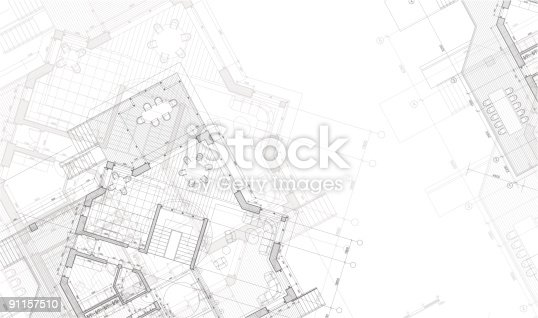 istock An architectural blueprint plan of the house 91157510