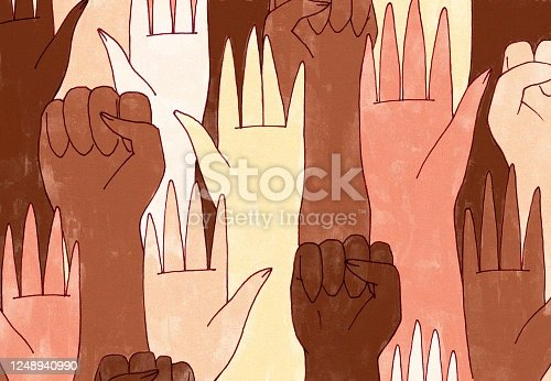 istock An array of hands 1248940990