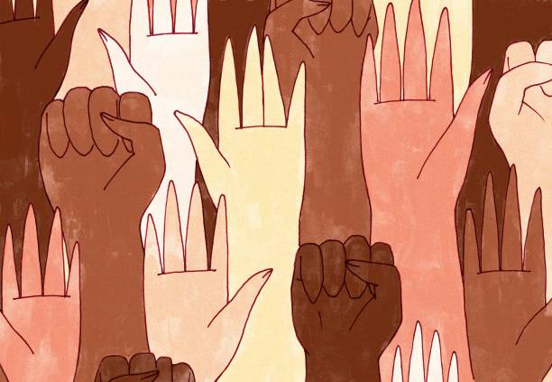 bir dizi el - black power stock illustrations
