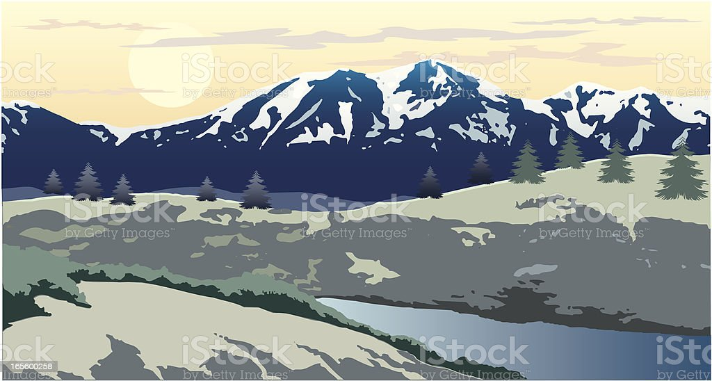 An artist's depiction of a mountainous wintery landscape royalty-free an artists depiction of a mountainous wintery landscape stock vector art & more images of cloud - sky