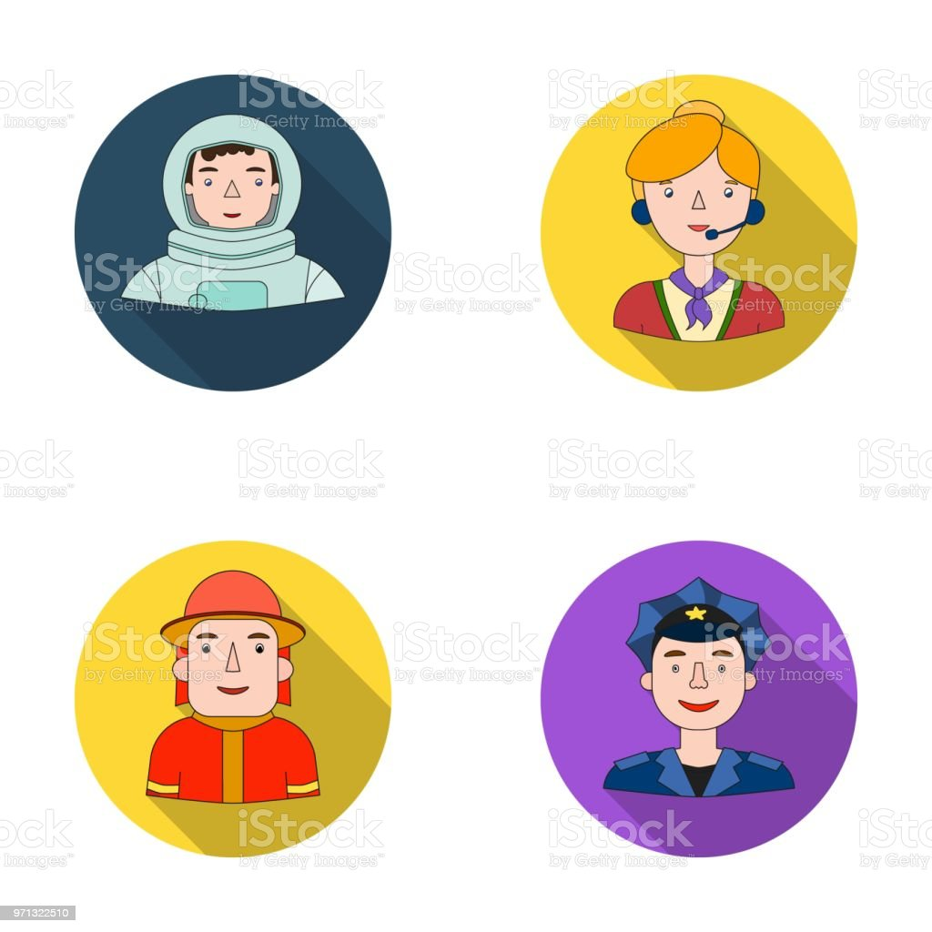 An astronaut in a spacesuit, a co-worker with a microphone, a fireman...
