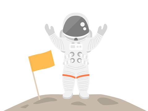 An astronaut's illustration.