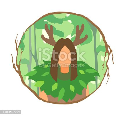 istock An avatar of druid. Myth sorcerer person in a circle shaped branches frame. 1139527727