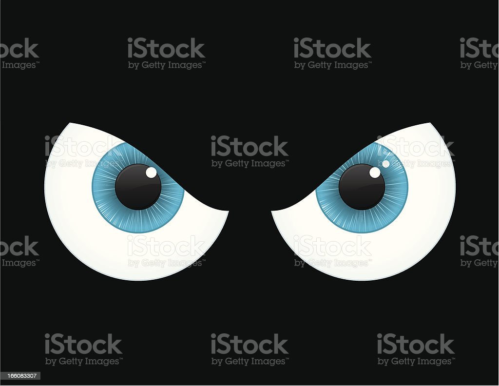 An digital drawing of Spooky eyes royalty-free stock vector art