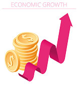 istock An Economic Growth concept vector Infographic. 1298881656