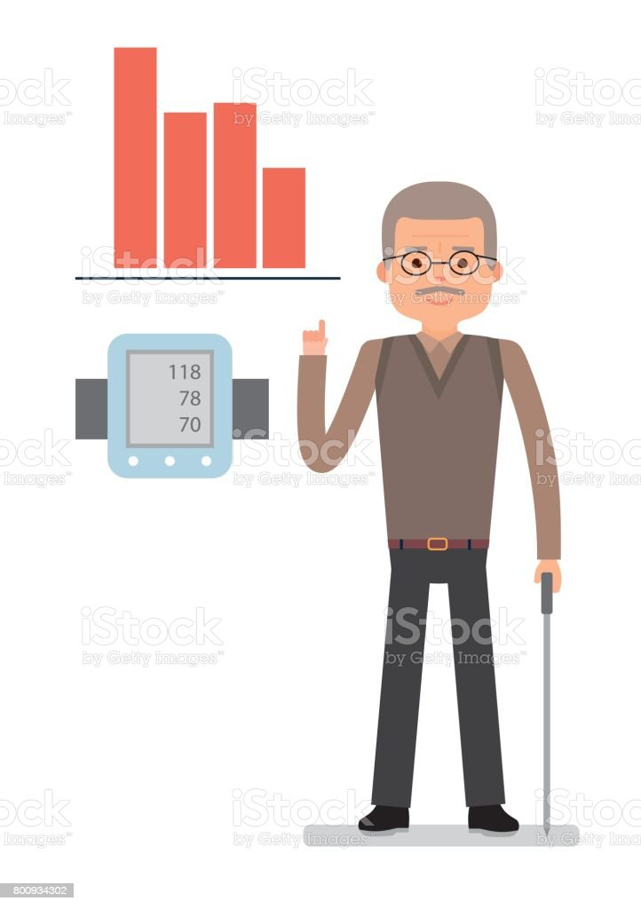 Hombre alto presión arterial