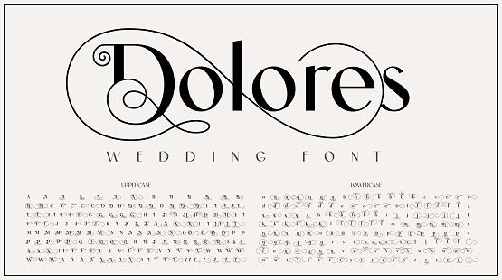 An elegant sans serif typeface with big alternate characters set
