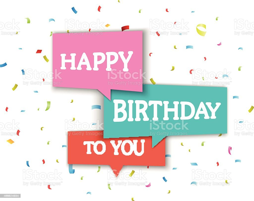 An example of a birthday greeting card vector art illustration