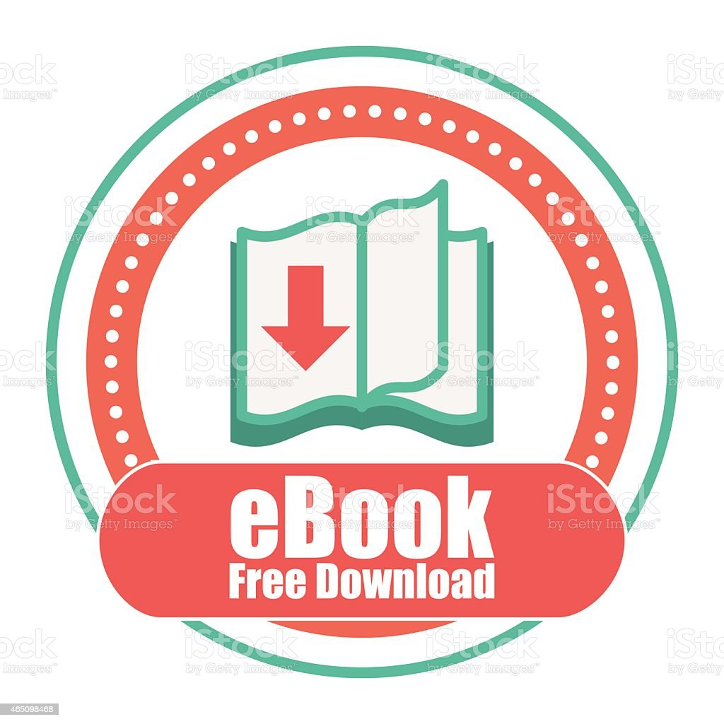 An icon for free eBook download vector art illustration