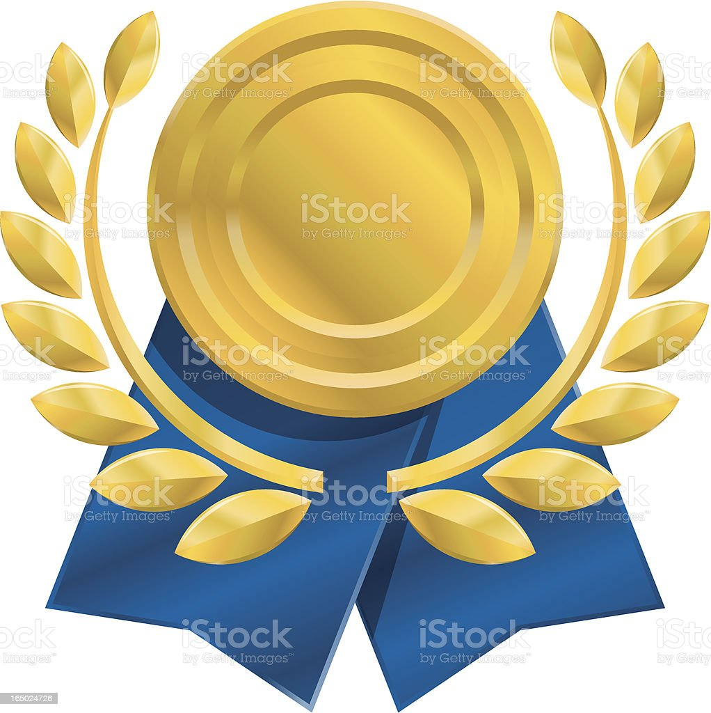 An icon of a gold medal design royalty-free stock vector art