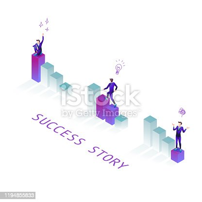 An illustration based on the success story from frustration to seizure.
