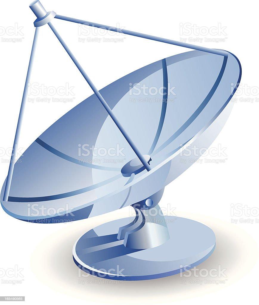 An illustration of a big antenna vector art illustration