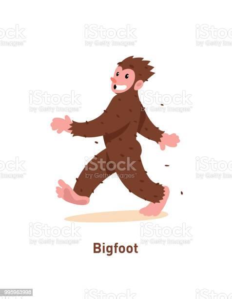 An illustration of a cartoon nice bigfoot vector illustration brown vector id995963998?b=1&k=6&m=995963998&s=612x612&h=r3n4pfchbyfrwmdcxt3fttpsch41drn8btgkga7v4la=