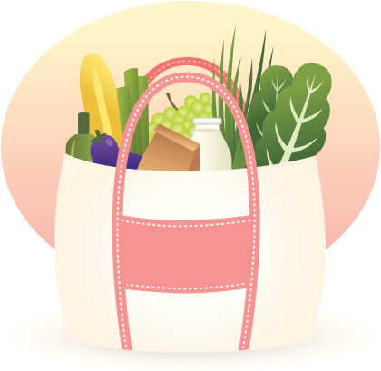 An illustration of a eco friendly shopping bag