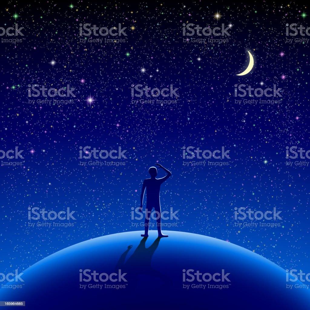 Céu noturno - ilustração de arte em vetor