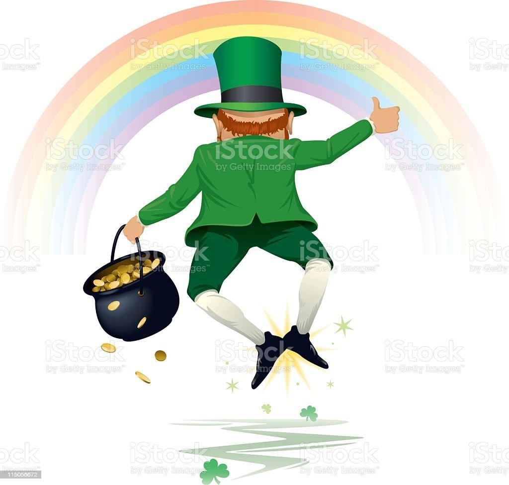 An illustration of a happy leprechaun royalty-free stock vector art