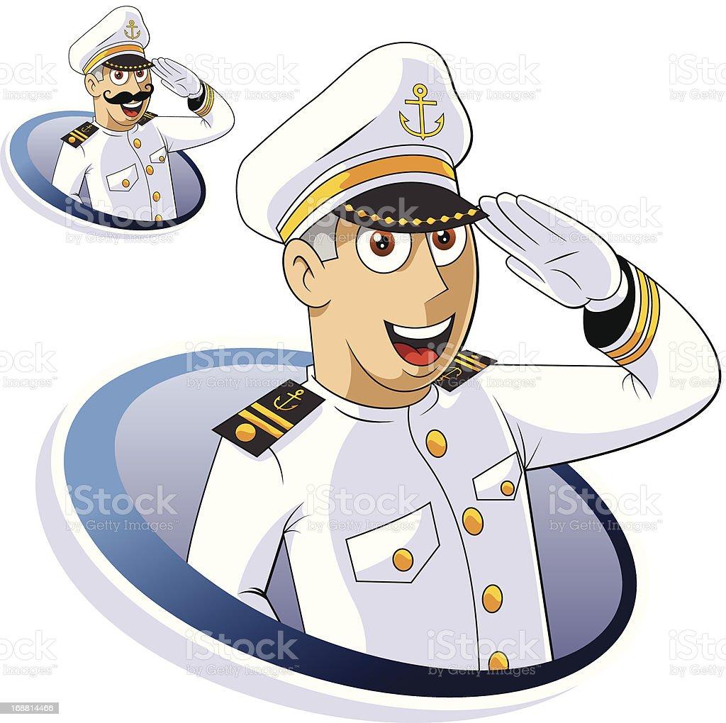 An illustration of a Marine Captain royalty-free stock vector art