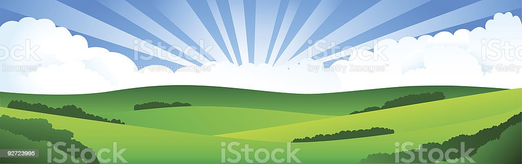 An illustration of a picturesque landscape royalty-free stock vector art