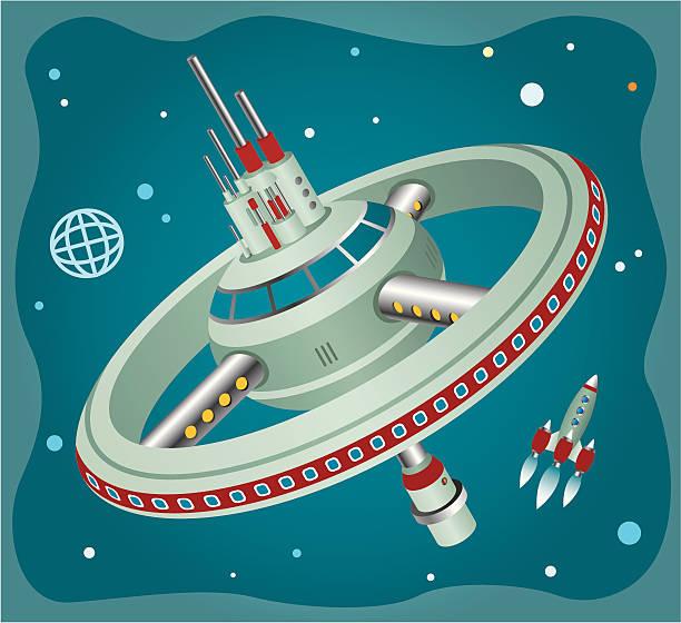 宇宙ステーション - 宇宙探検点のイラスト素材/クリップアート素材/マンガ素材/アイコン素材
