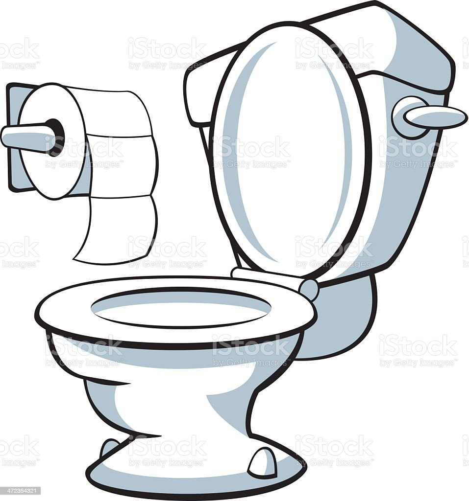 An Illustration Of A Toilet Bowl On A White Background ...