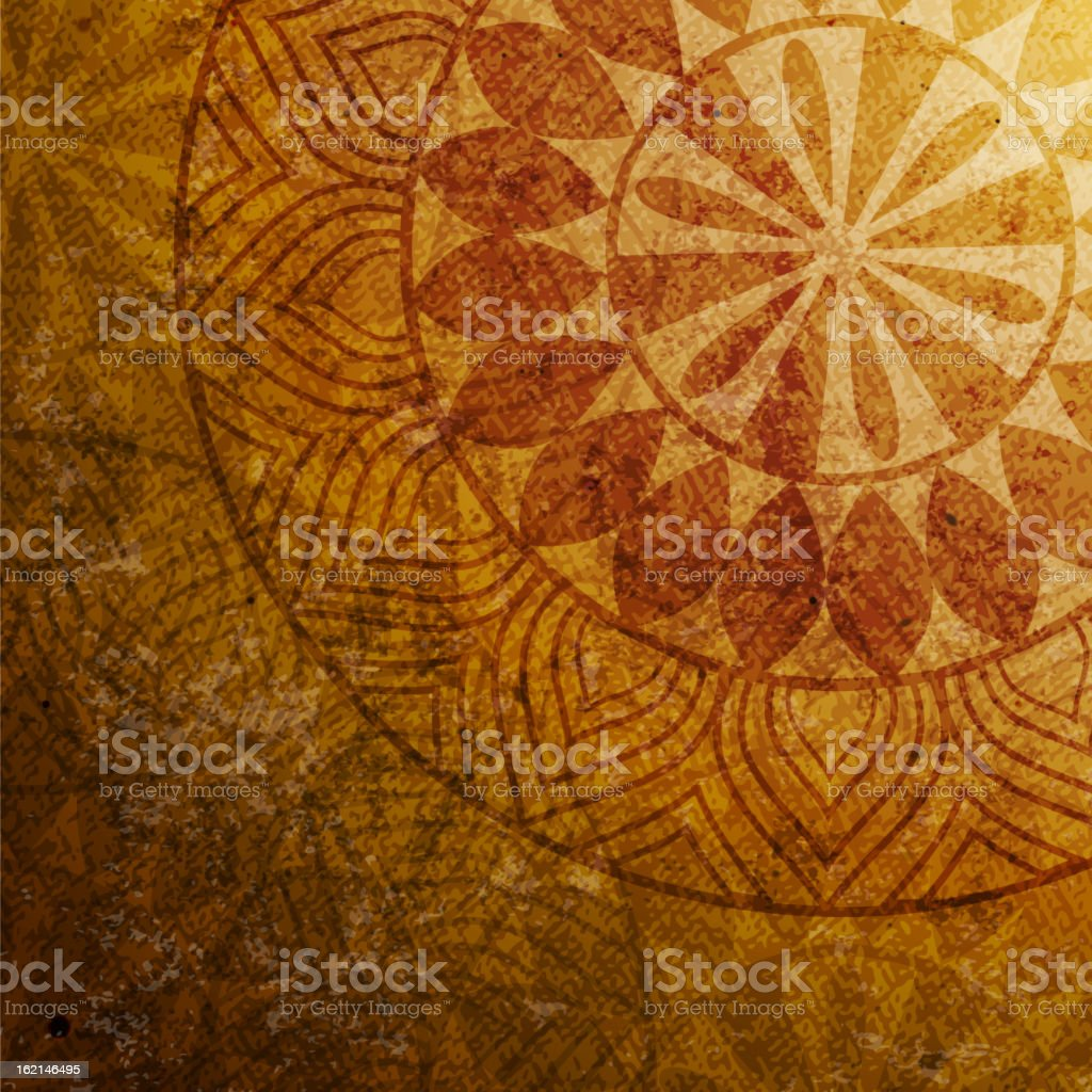 An illustration of a vintage ethnic background royalty-free stock vector art