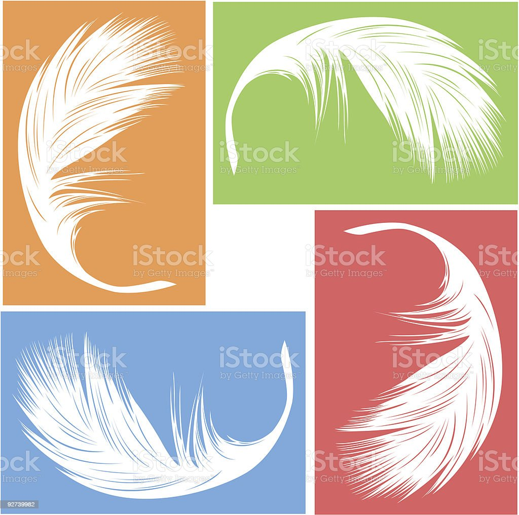 An illustration of a white feathers royalty-free stock vector art
