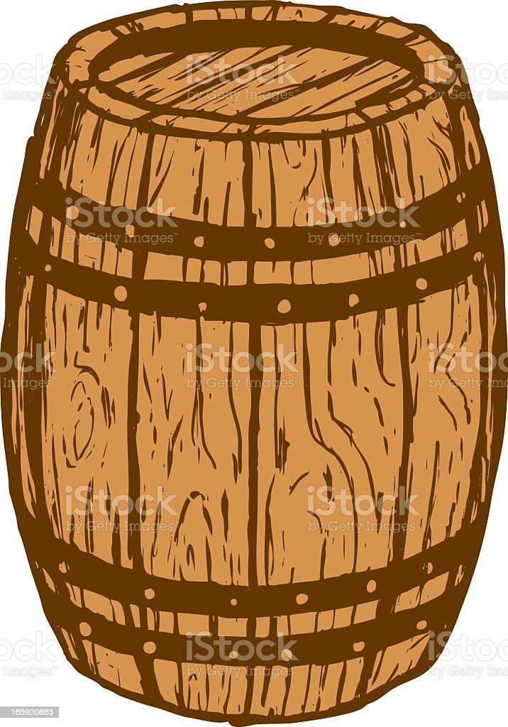 Holz barrel – Vektorgrafik