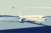 An illustration of an airport scene