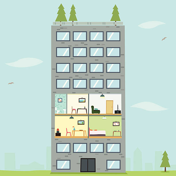 Best Sites To Find An Apartment: Best Apartment Illustrations, Royalty-Free Vector Graphics