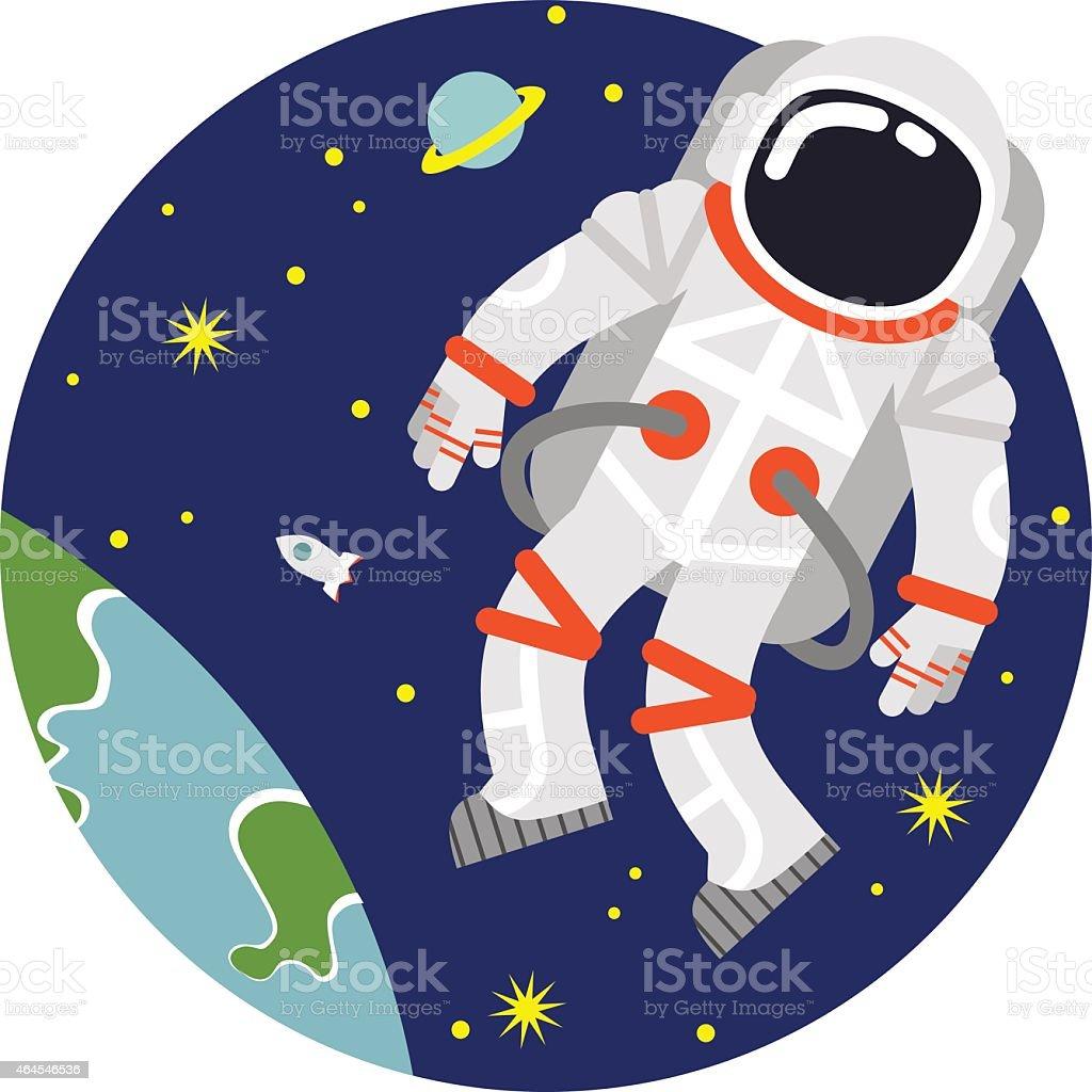 Astronaute dans l'espace - Illustration vectorielle