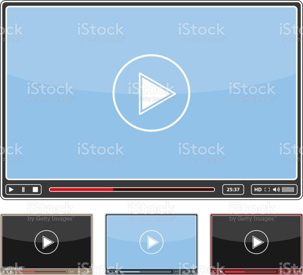 An illustration of an online video player vector art illustration
