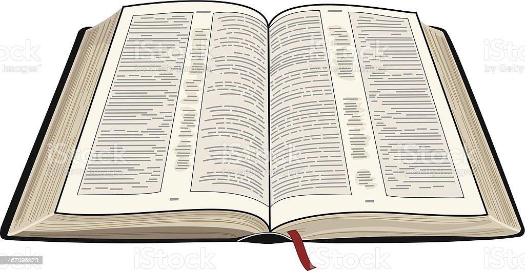 Abierto Biblia - ilustración de arte vectorial