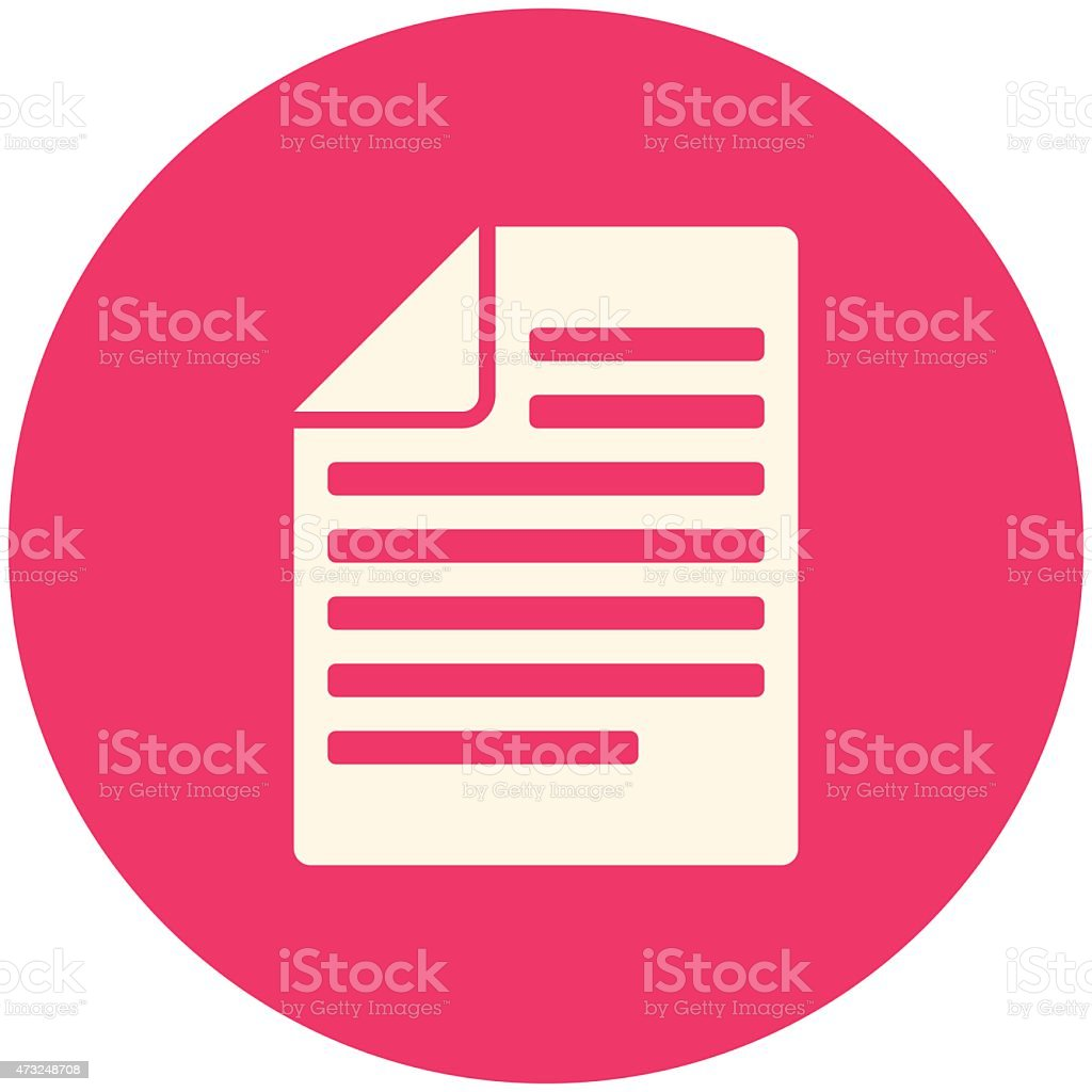 An illustration of articles icon  vector art illustration