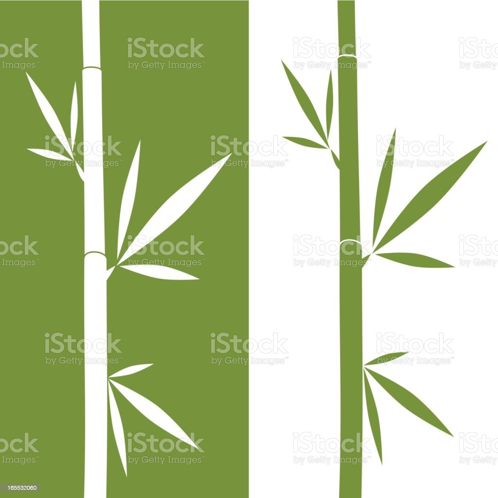An illustration of mirrored bamboo vector art illustration