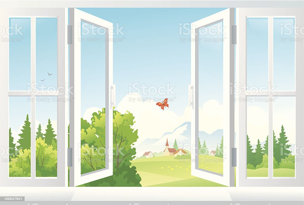 Royalty Free Open Window Clip Art Vector Images