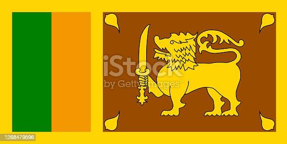 istock an illustration of srilanka flag 1268479596