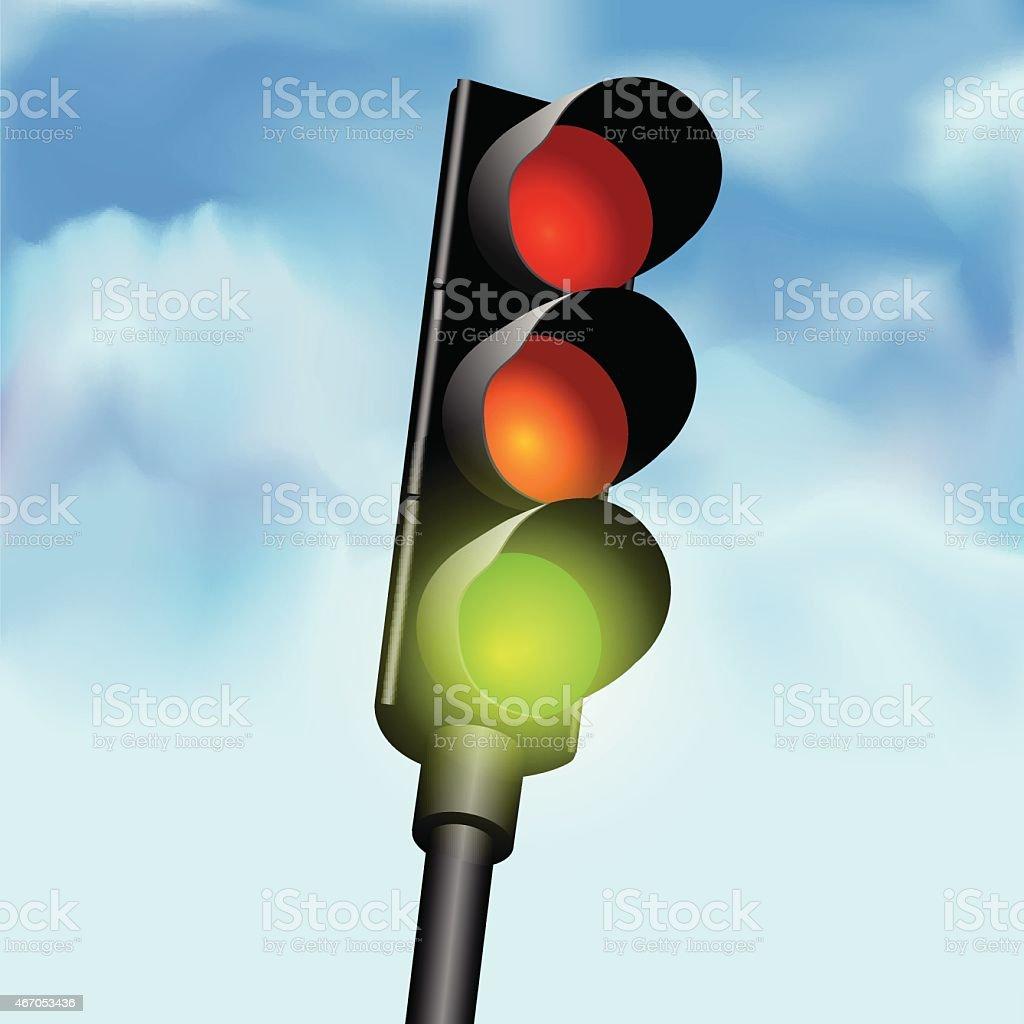 An illustration of traffic lights vector art illustration