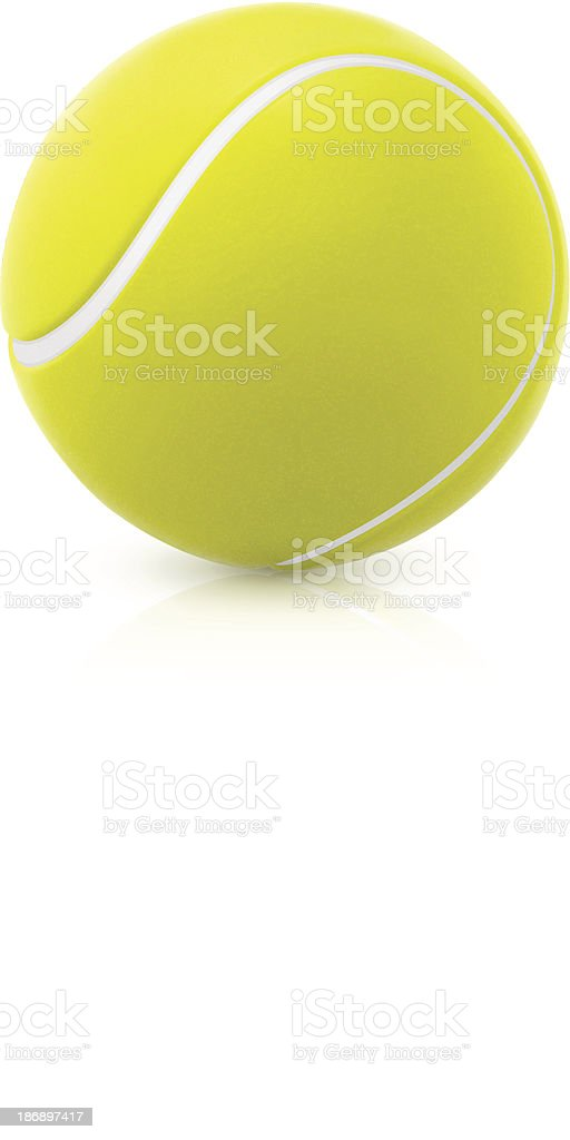 An image of a green round tennis ball vector art illustration