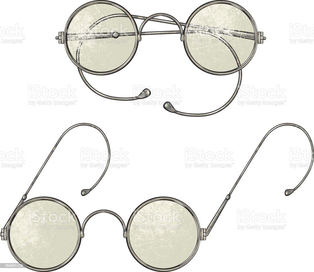 Vintage Brille – Vektorgrafik