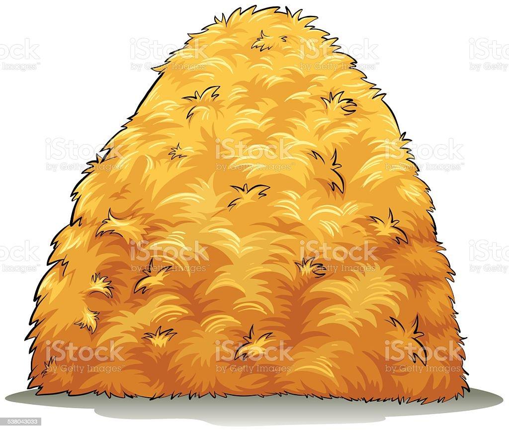 An image showing a haystack vector art illustration