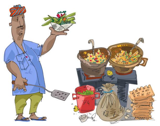 Best Pani Puri Illustrations, Royalty-Free Vector Graphics ...